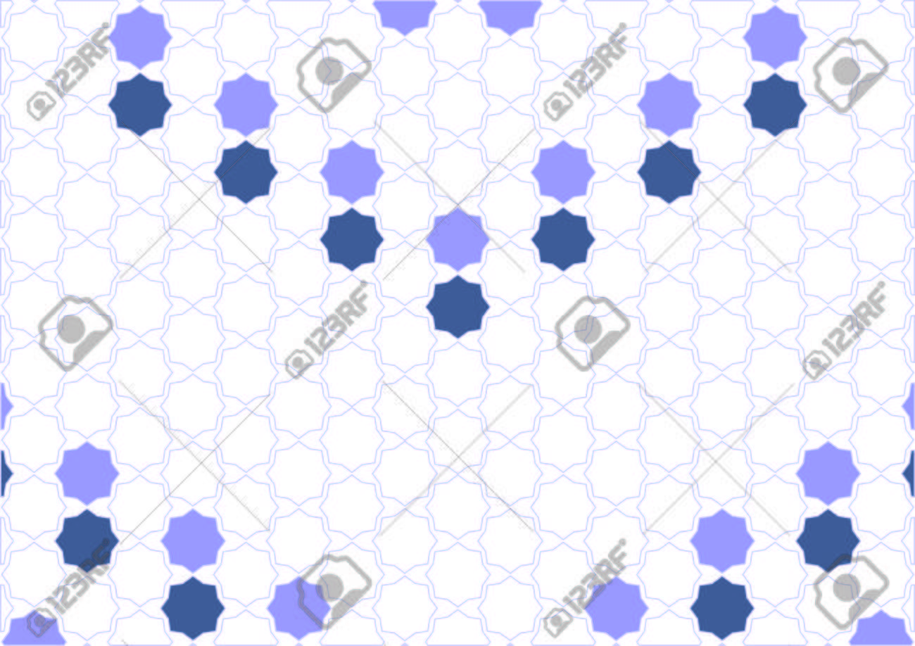 Simple design inspiration polygons Arabic blues