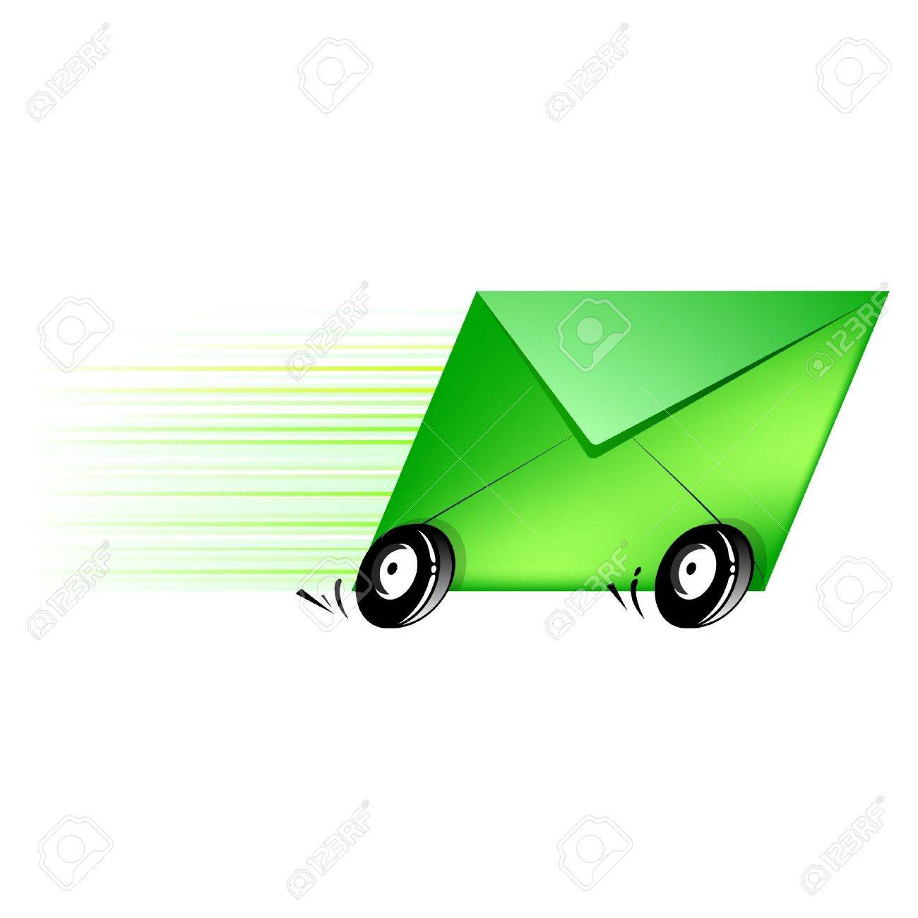 Conceptual Icon Letter For Delivery Fast And Efficient Royalty