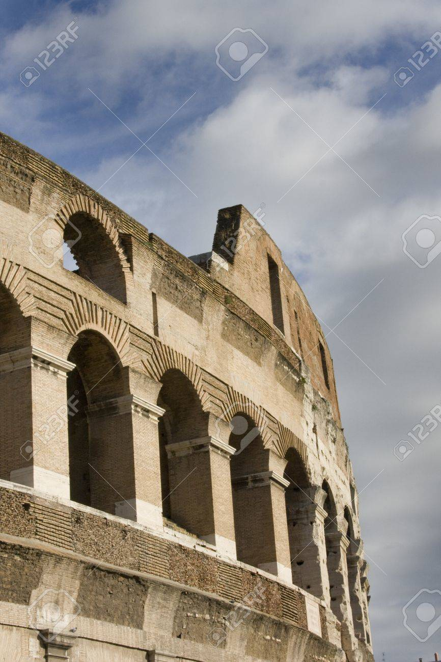 Side of ancient stone coliseum Stock Photo - 13594716