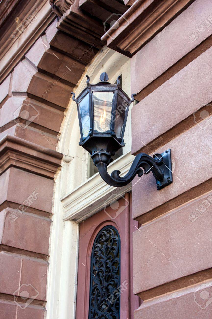 Ornate Outdoor Lighting On An Old Building Stock Photo 15254645