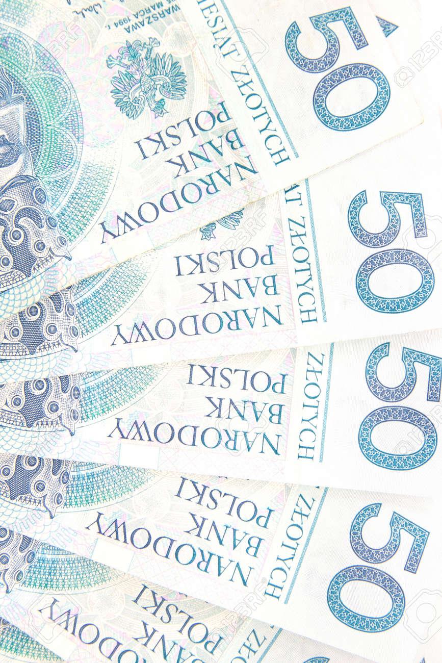 50 polish zloty background Stock Photo - 4738510