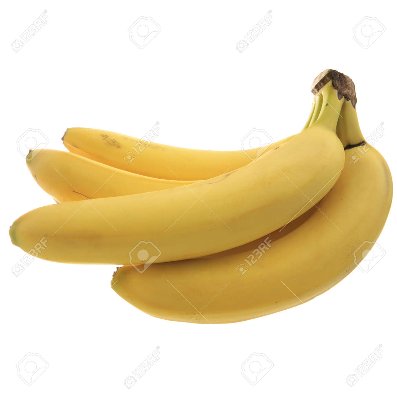 Food Related: Bunch of Bananas isolated on white Stock Photo - 4738442