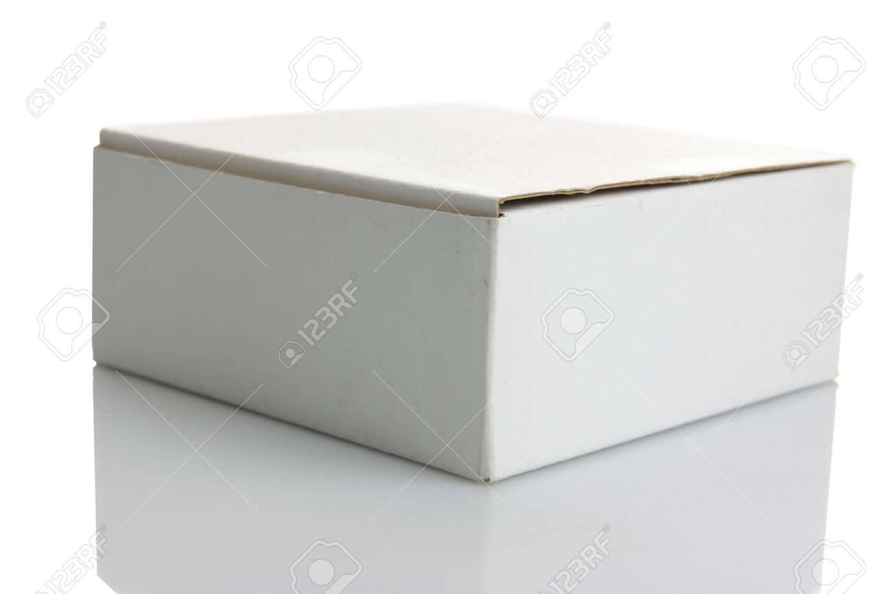 White carton box isolated on white background Stock Photo - 4738322
