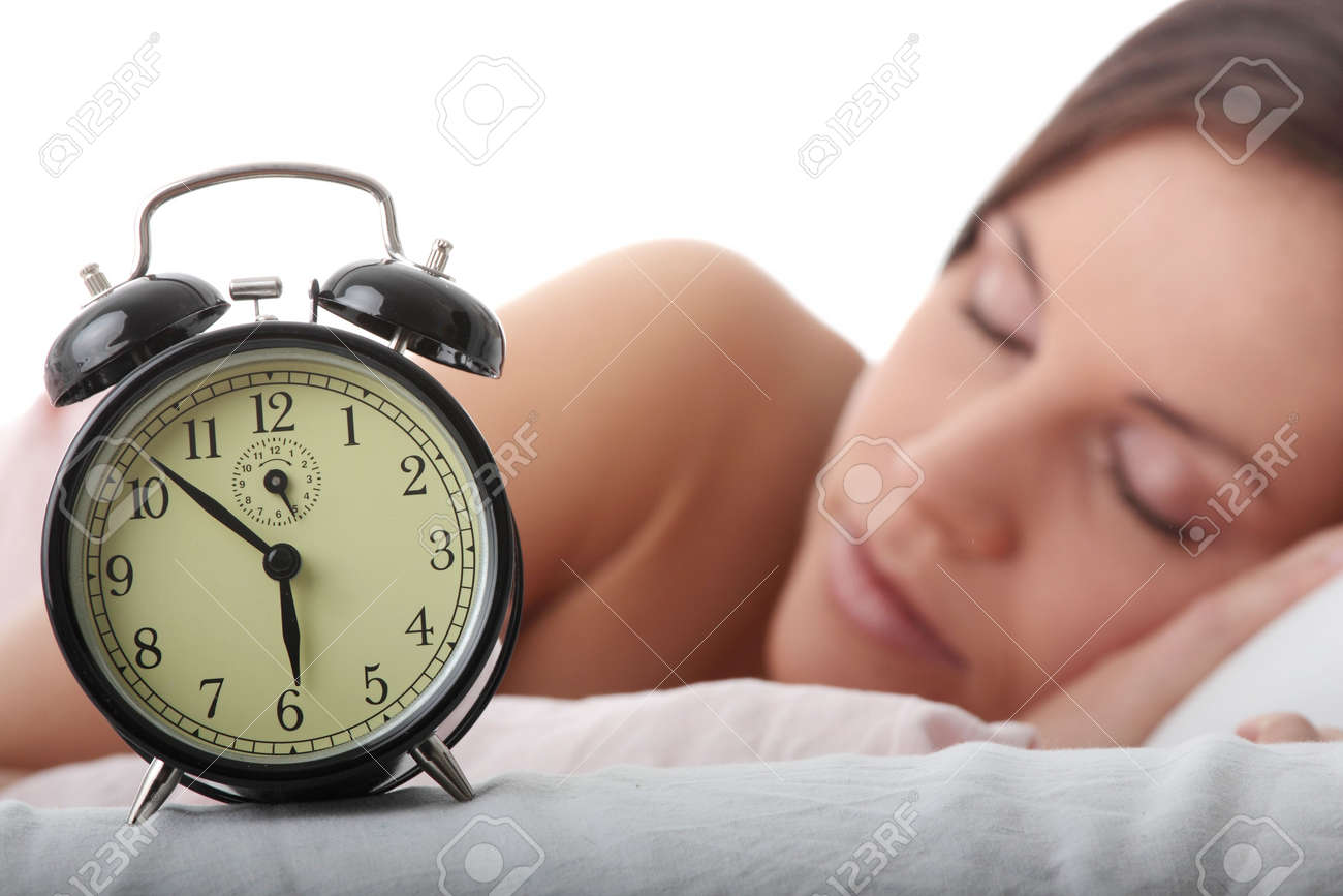 Beautiful Caucasian woman waking up in the morning. Stock Photo - 5977754