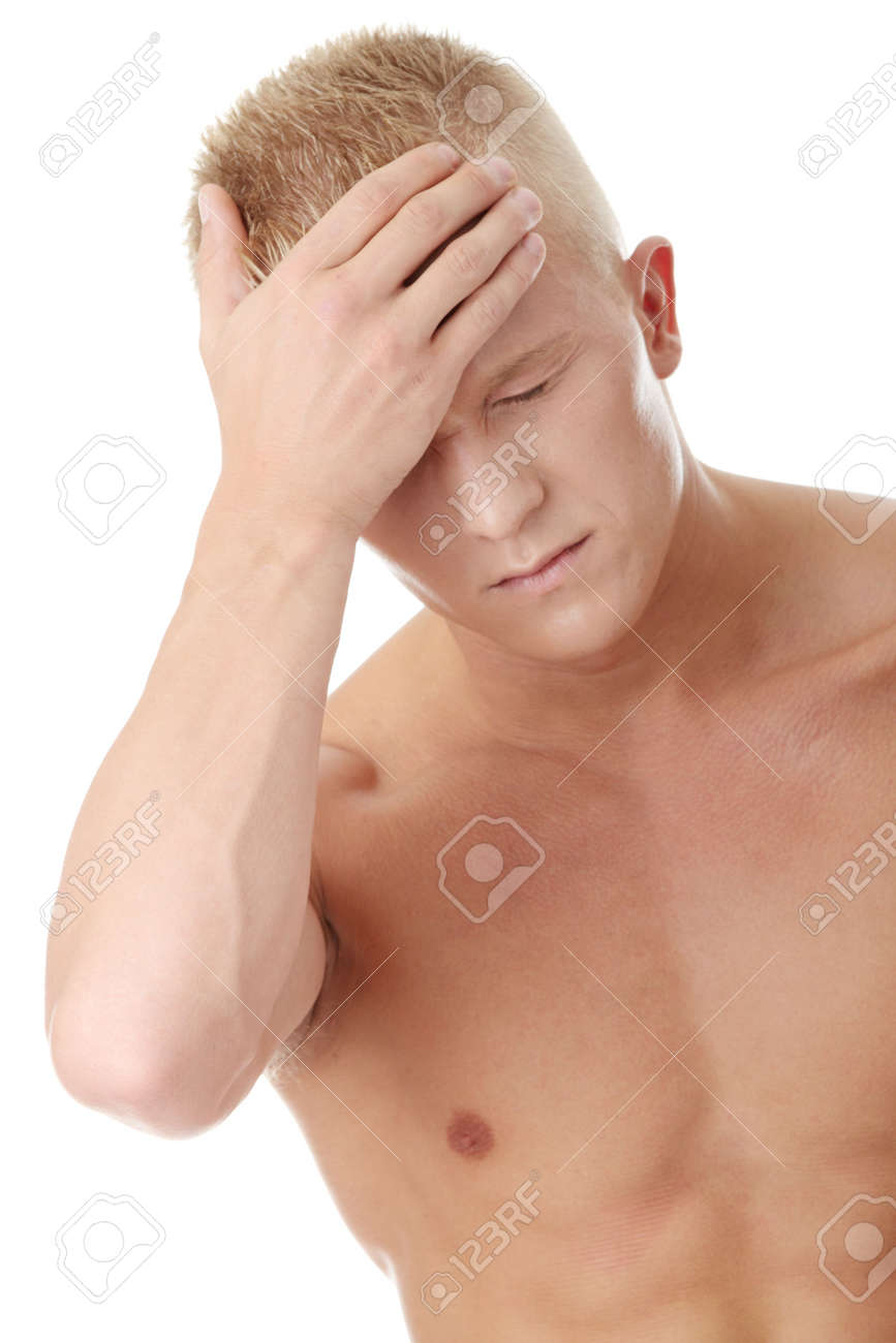 Men with headache or migraine isolated Stock Photo - 6019823
