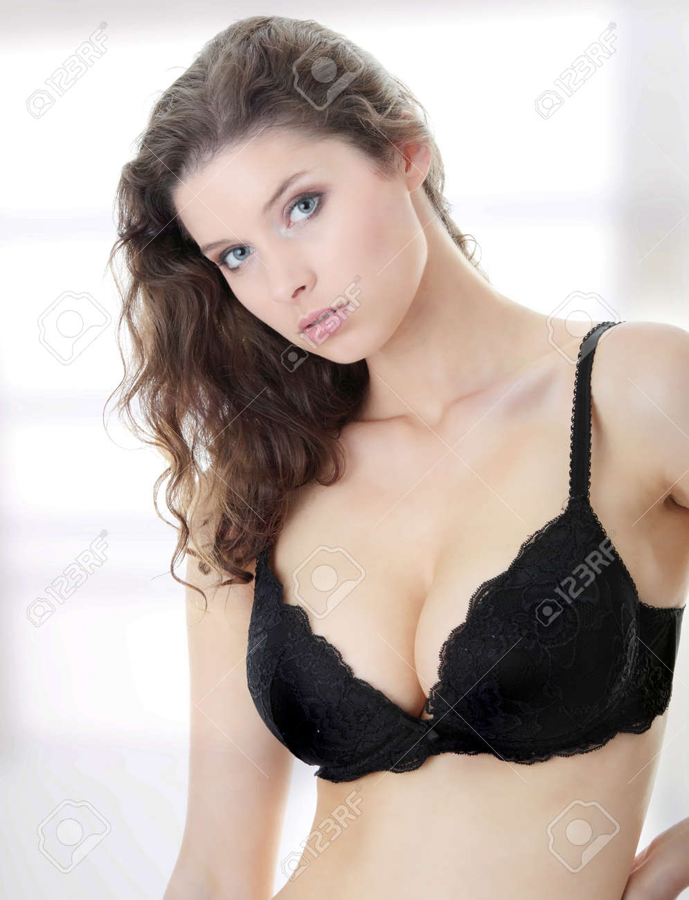 CHERIE: Busty bra lady model