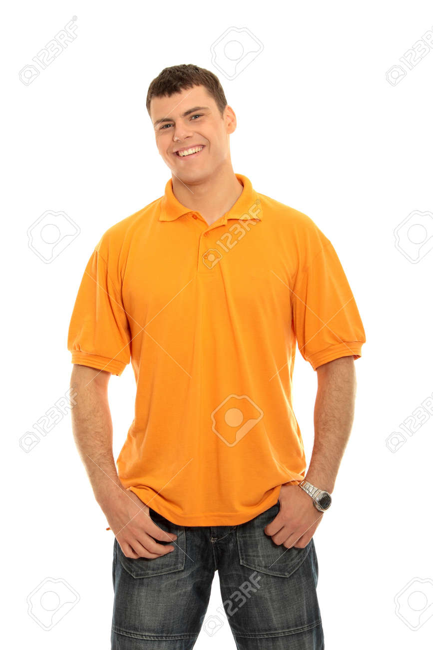 Young casual man portrait isolated on white background Stock Photo - 9027640