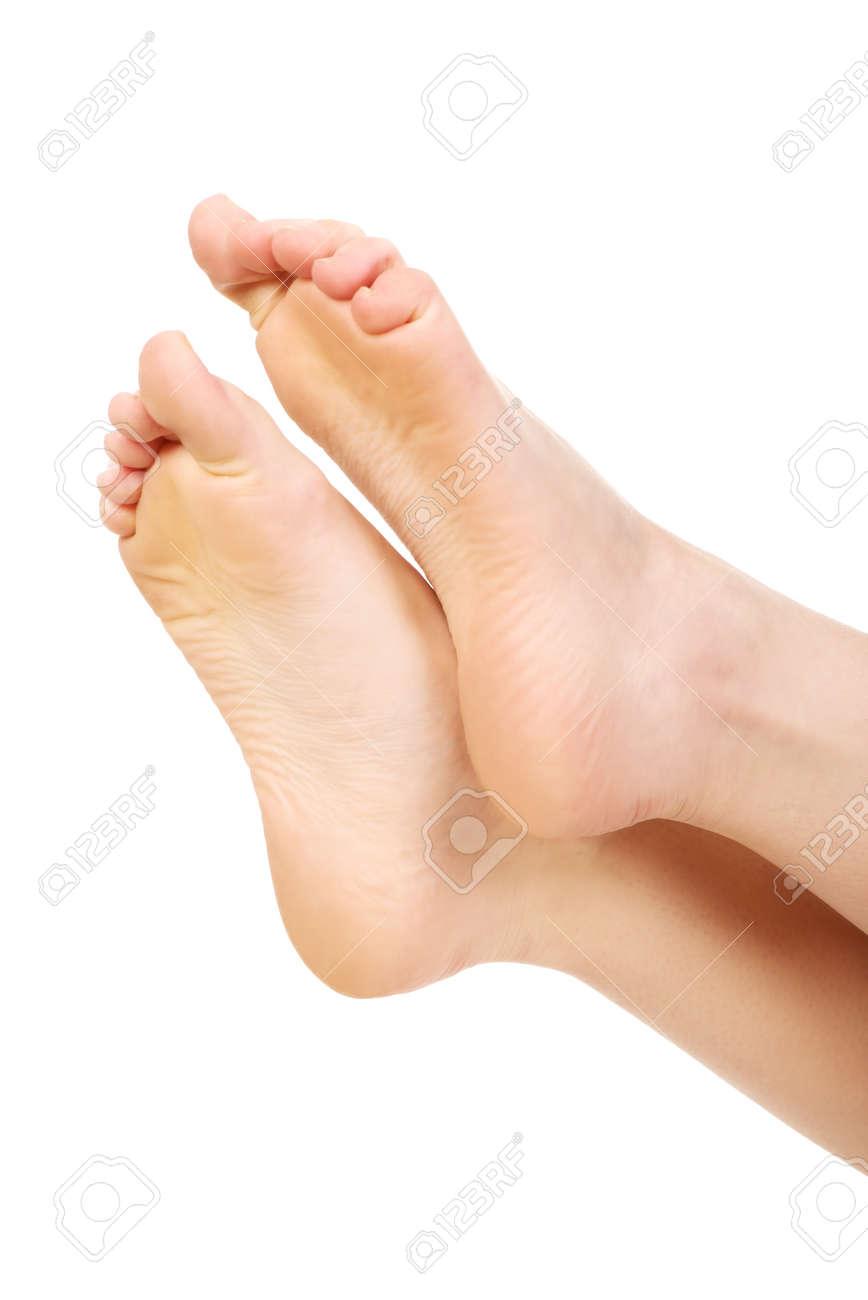 Healthy smooth female feet. - 40437603