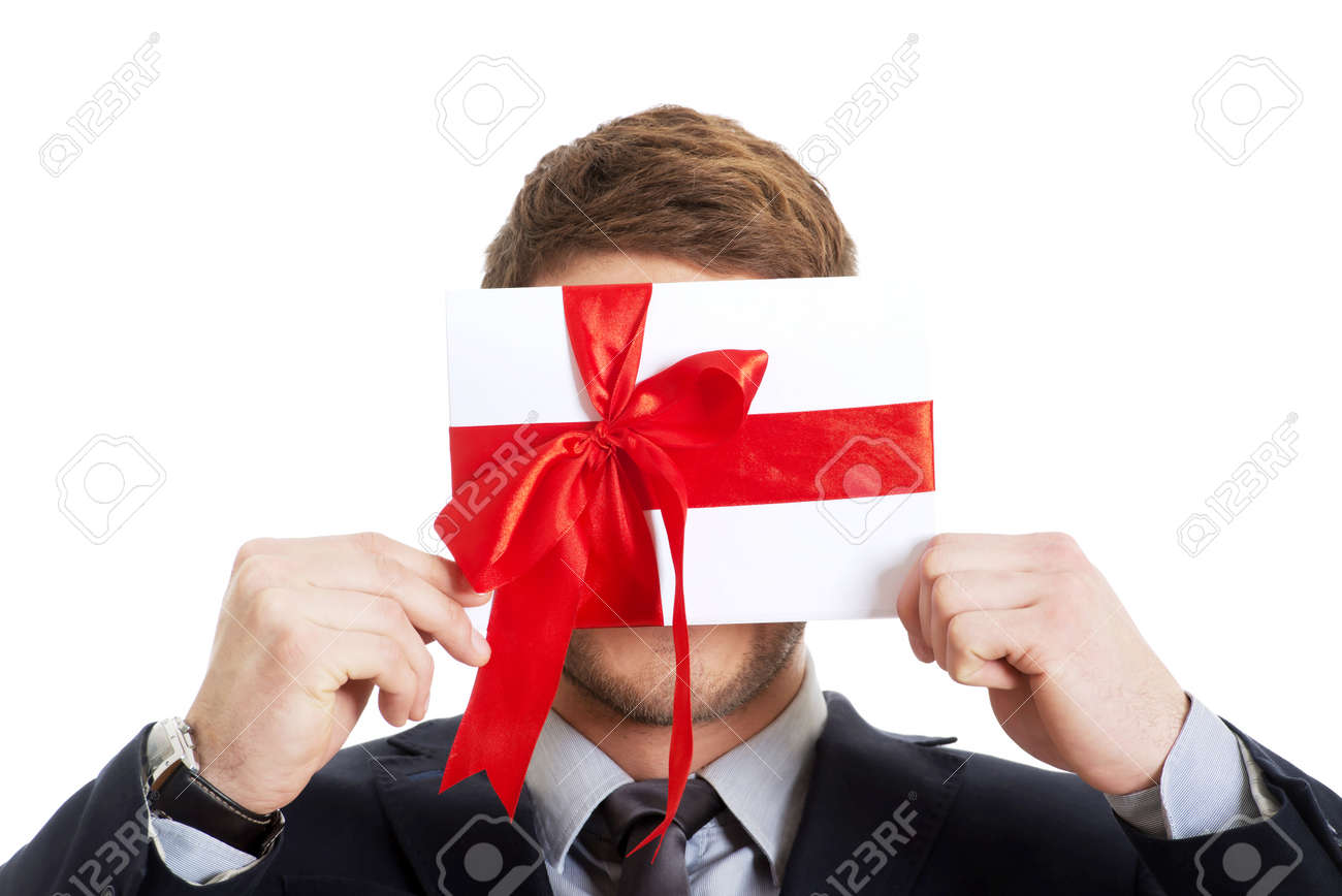 Handsome elegant man with valentines gift box. Stock Photo - 42215958  sc 1 st  123RF.com & Handsome Elegant Man With Valentines Gift Box. Stock Photo Picture ...