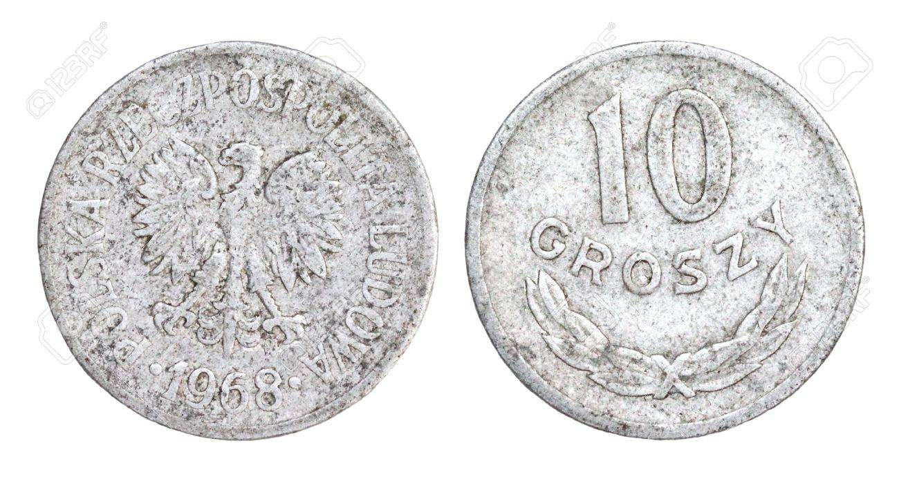 Old 10 Groszy Coin of Poland of 1968 Stock Photo - 13055957