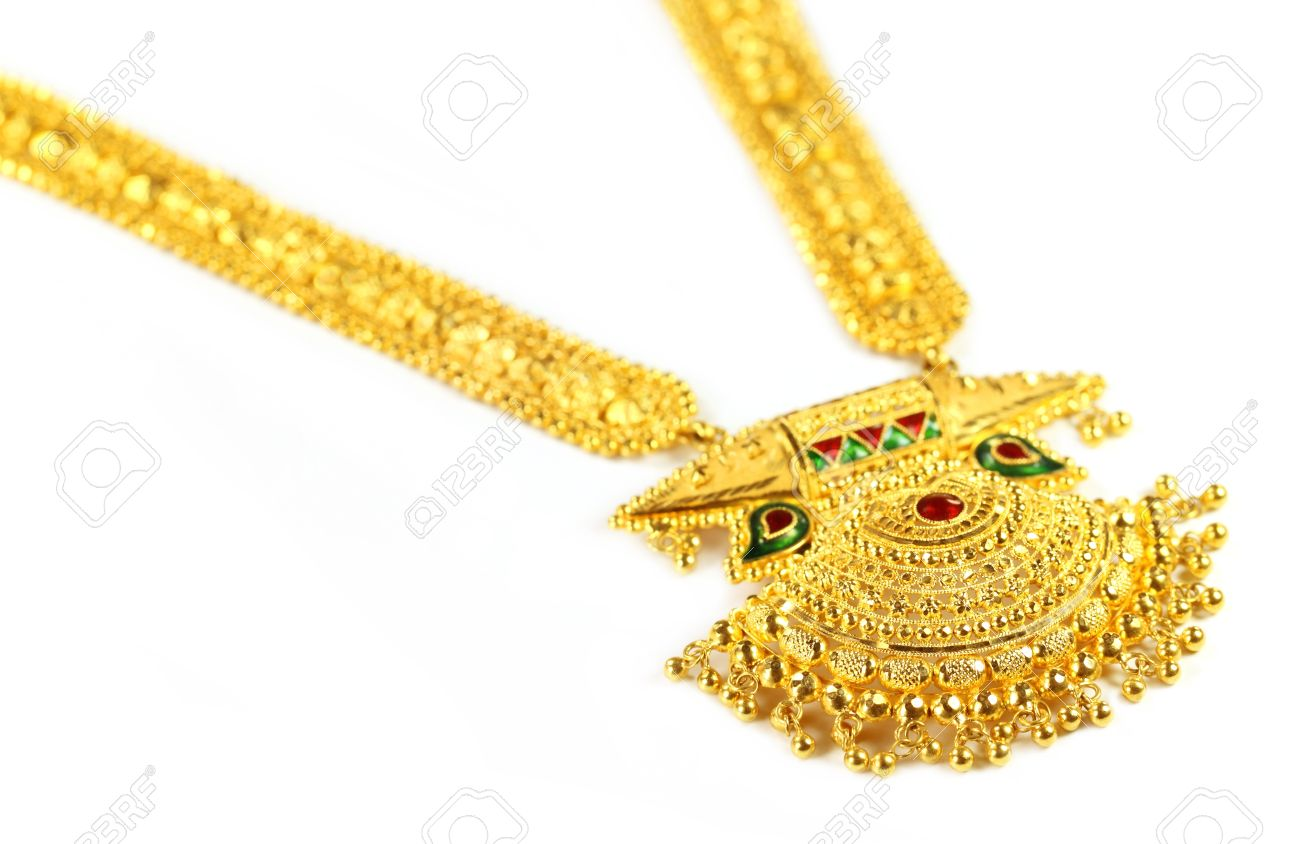 Famous Indian Bridal Sita Har Or Sita Necklace Stock Photo ...