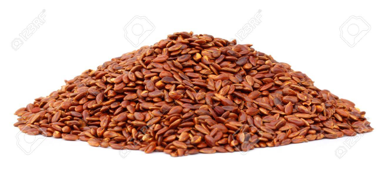 Flax or edible tisi seeds Stock Photo - 17723765