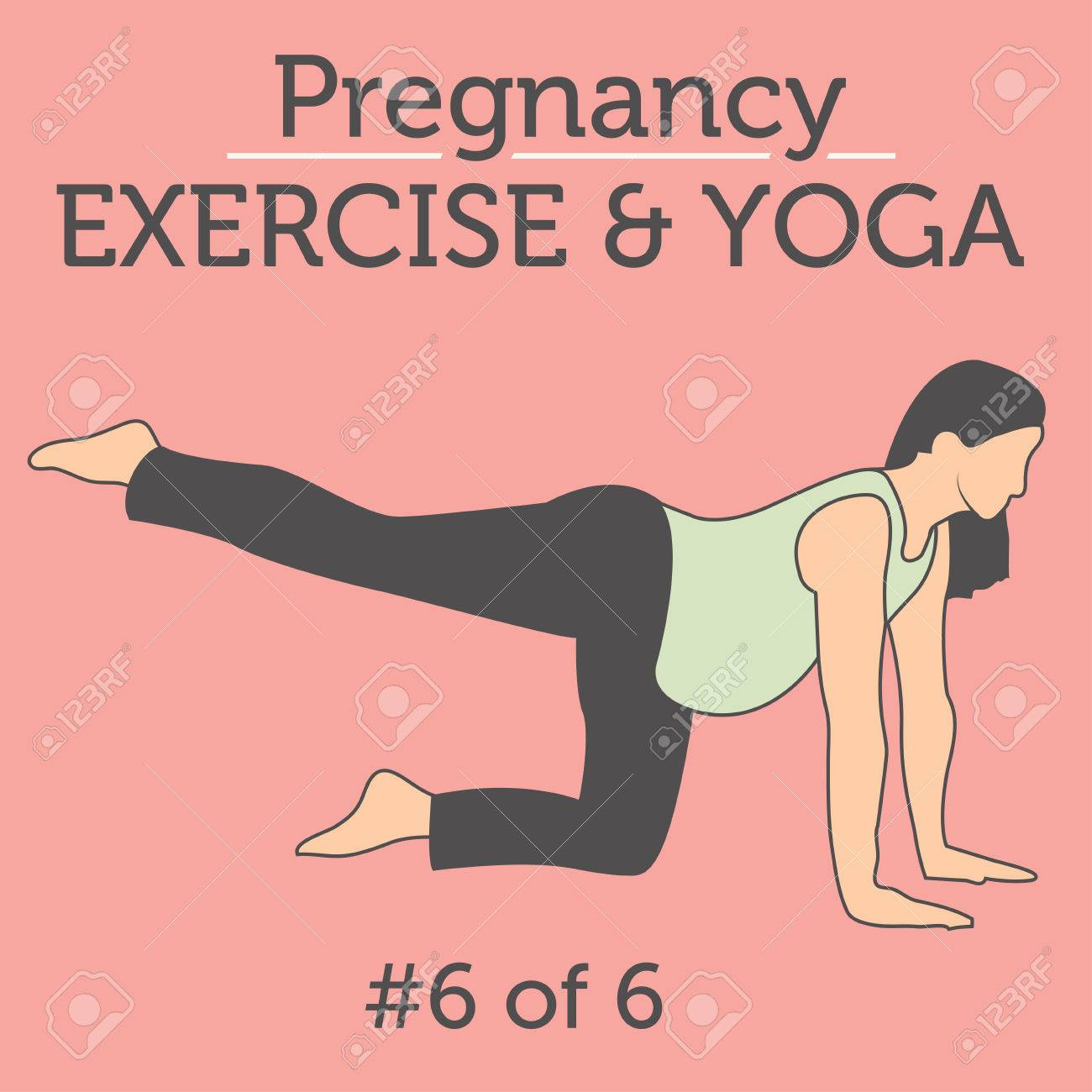 Pregnant Woman In The Expecting Stages Of Birth Stretching Or Royalty Free Cliparts Vectors And Stock Illustration Image 54669673