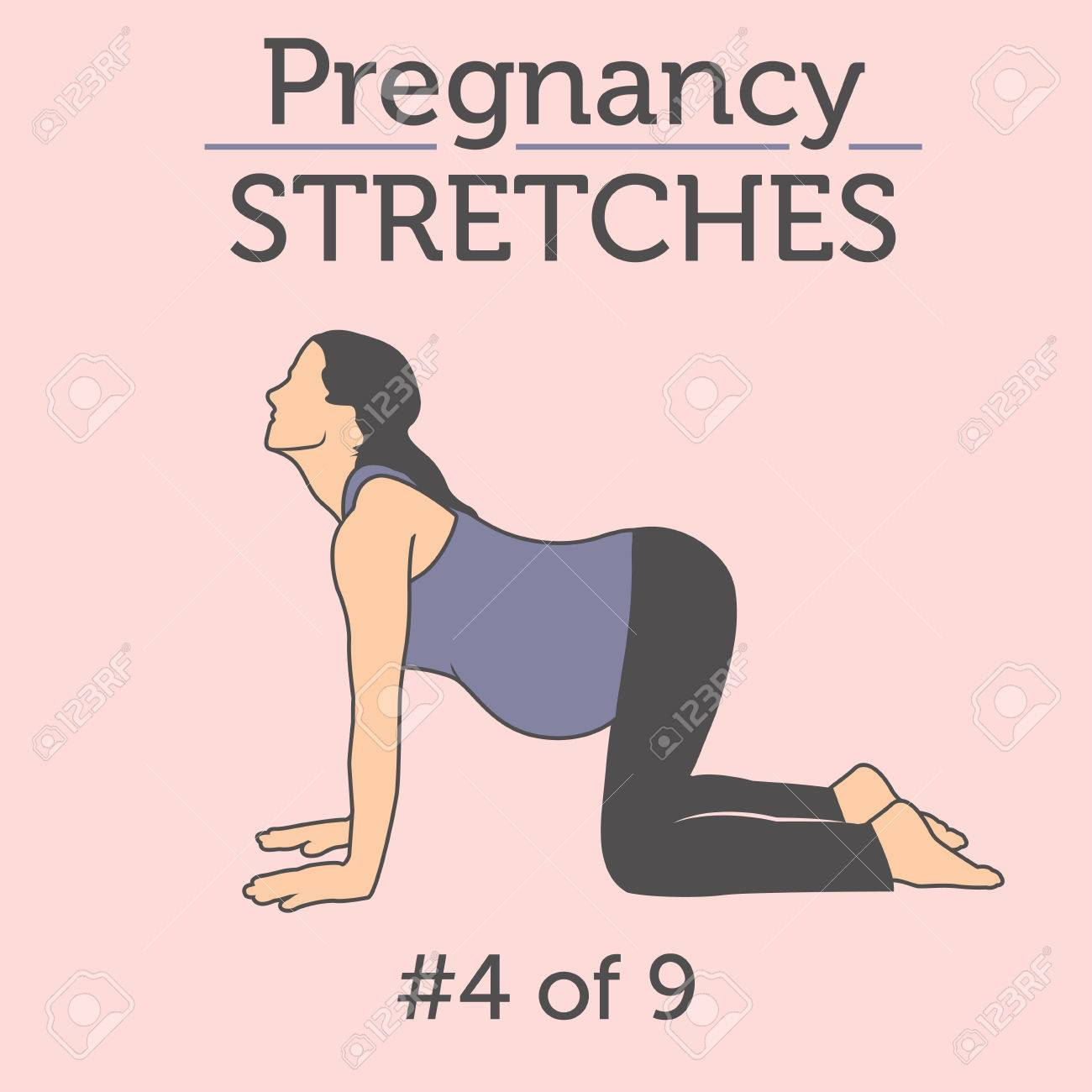Pregnant Woman In The Expecting Stages Of Birth Stretching Or Royalty Free Cliparts Vectors And Stock Illustration Image 54669674