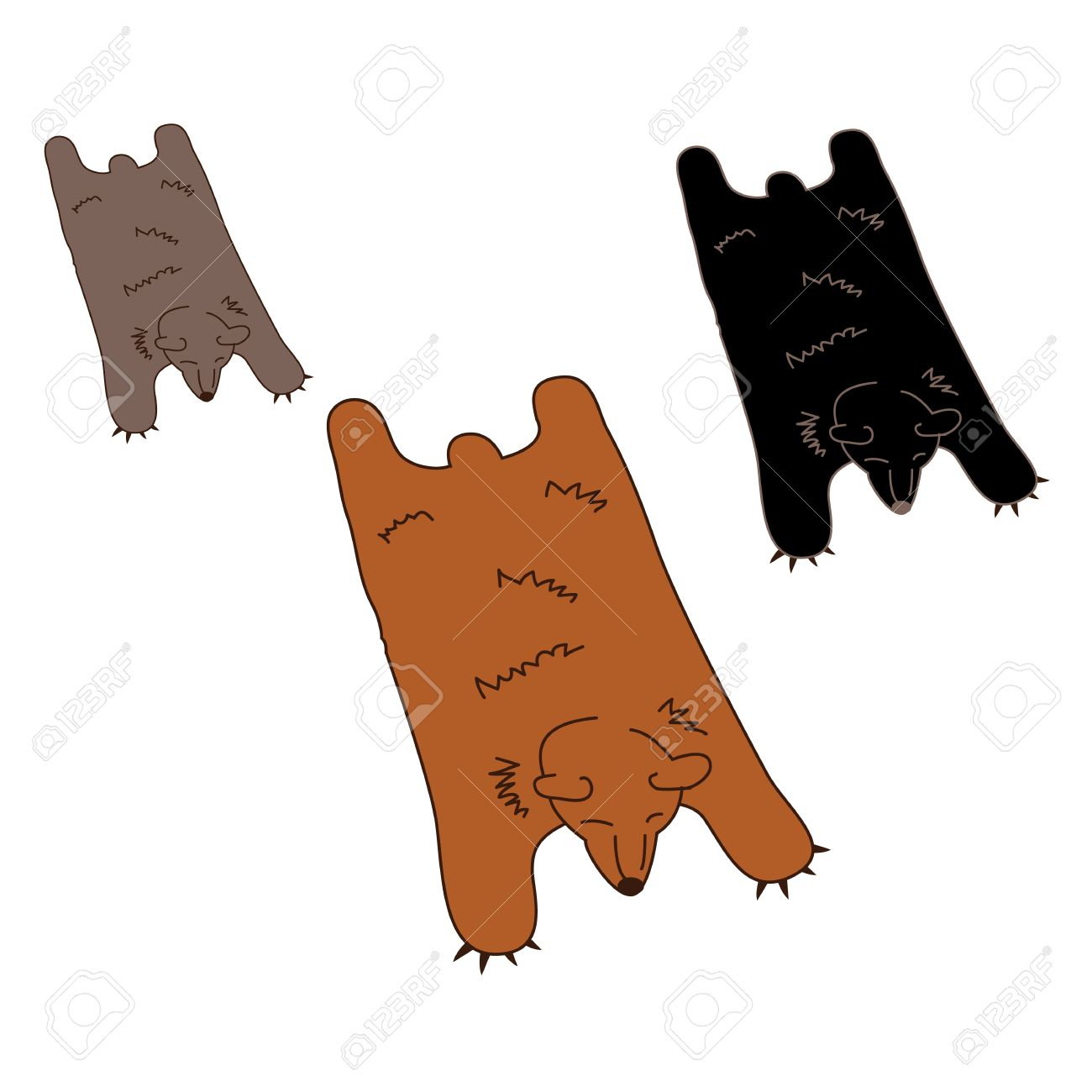 Faux Bearskin Rug Faux Or Fake Leathery Extra Fuzzy Or Furry Bear Skin Rug For