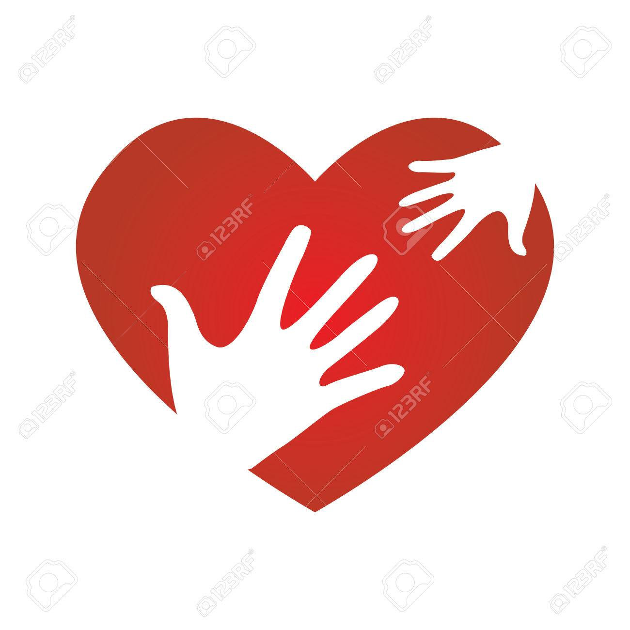 Heart with child and adult symbols peace donation charity icon heart with child and adult symbols peace donation charity icon stock vector 54854635 biocorpaavc