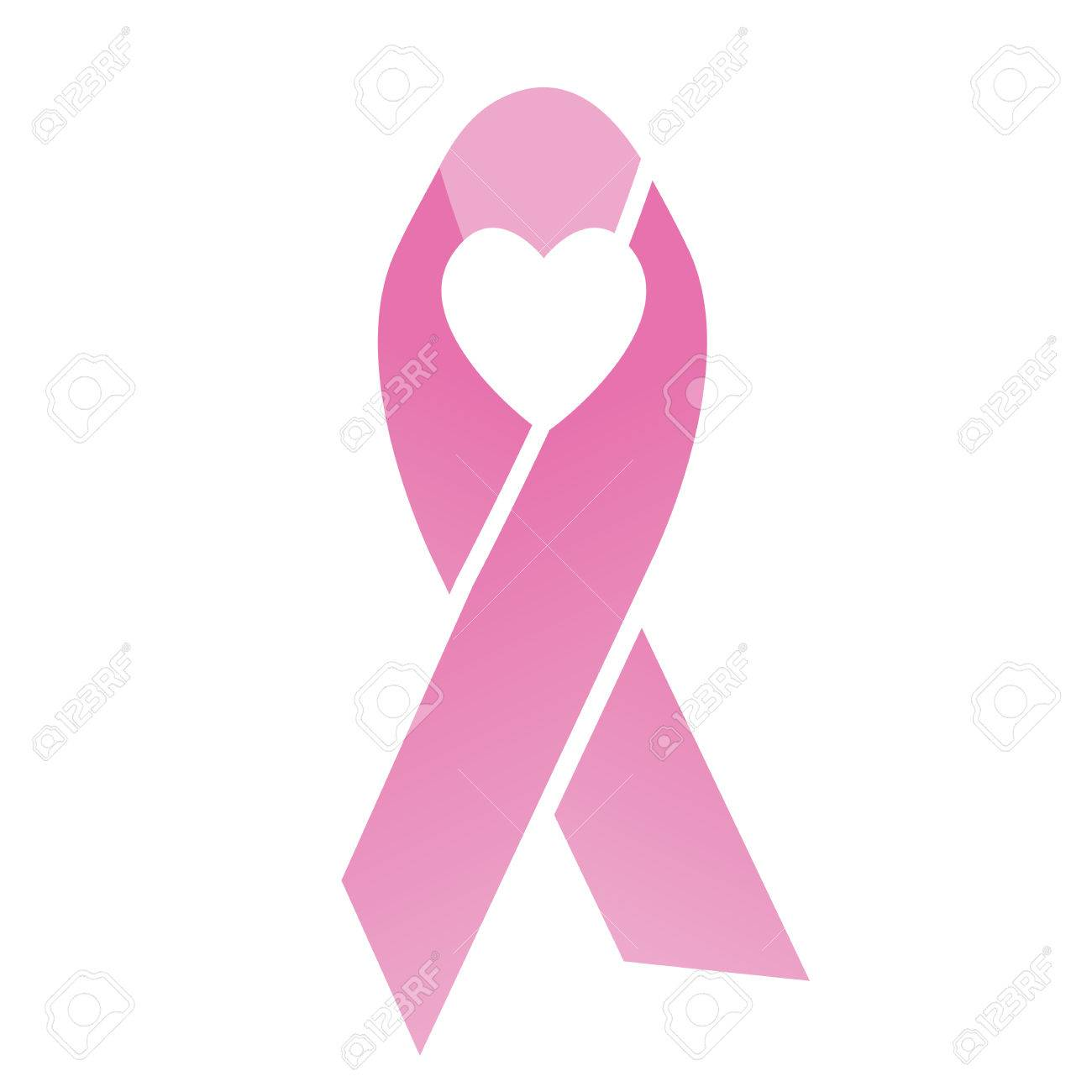 pink heart breast cancer ribbons with different differing icons rh 123rf com breast cancer ribbon vector art free breast cancer ribbon vector free download