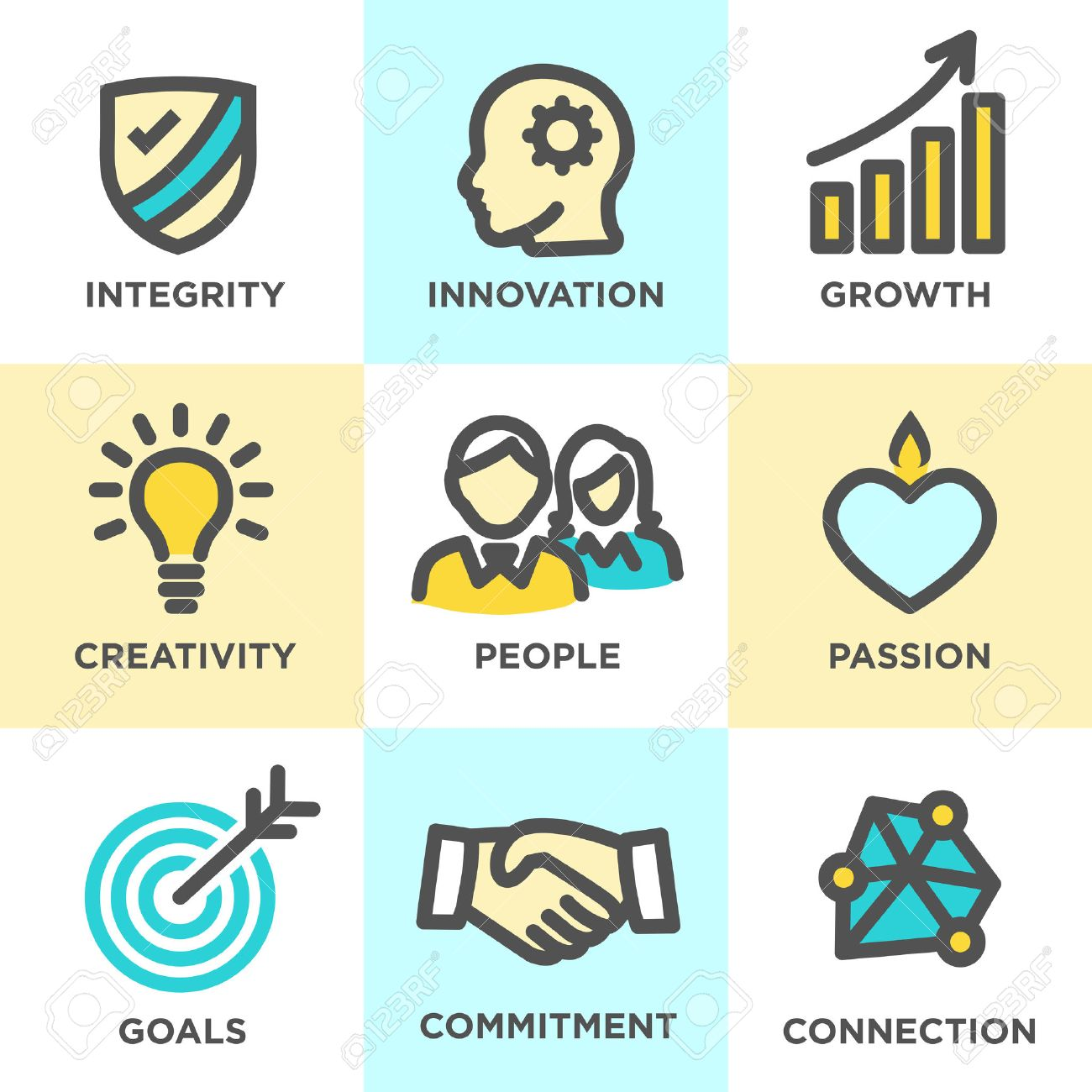 8117 honesty stock illustrations cliparts and royalty free company core values outline icons for websites or infographics biocorpaavc Image collections
