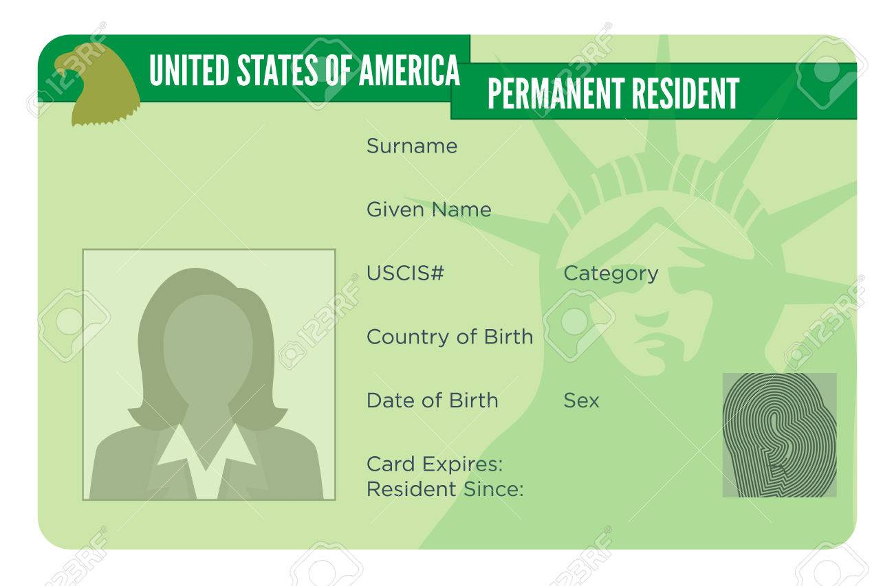 American Naturalization or Permanent Residency Card - 61659867