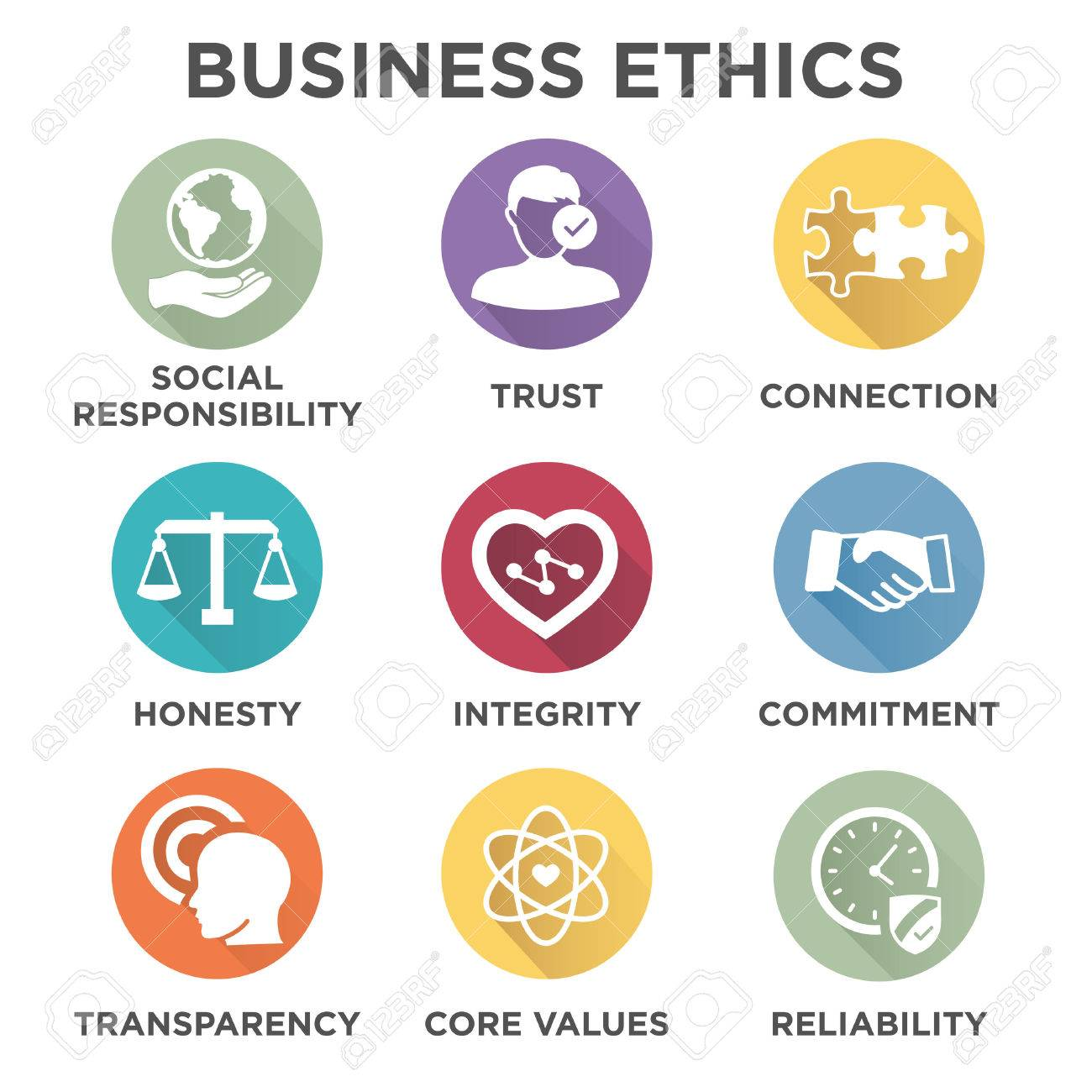 Business ethics solid icon set isolated with text royalty free business ethics solid icon set isolated with text stock vector 69369321 biocorpaavc Image collections