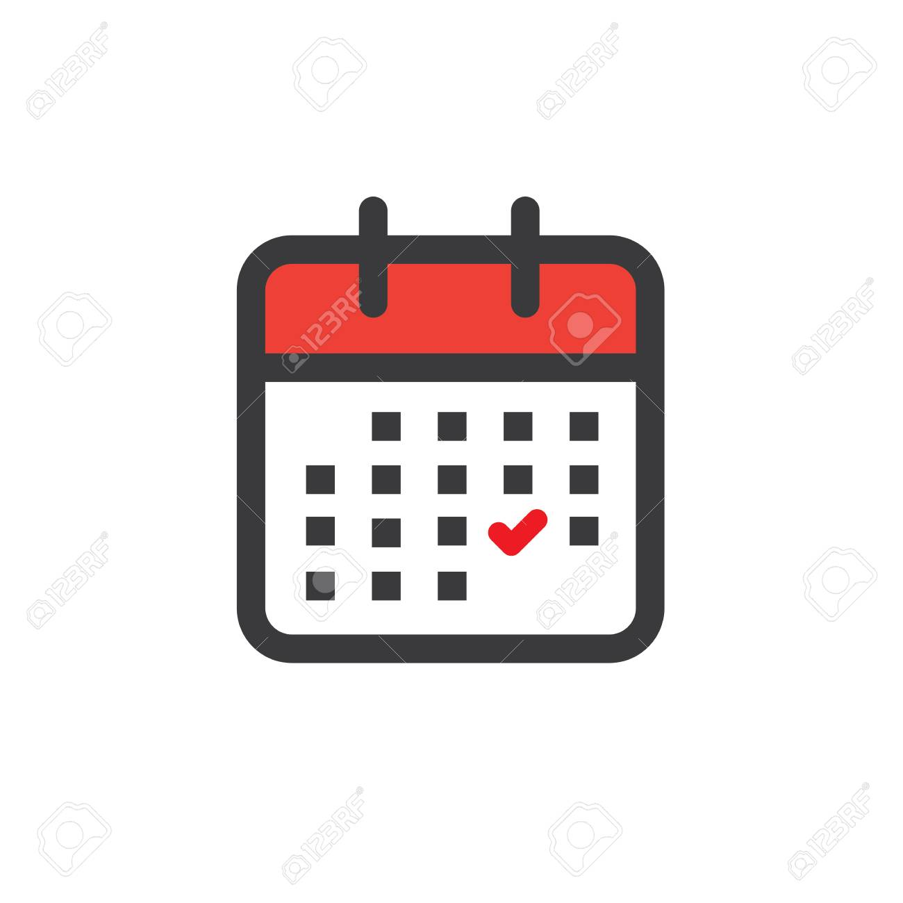 Illustration Calendrier.Calendar Image With Specific Date