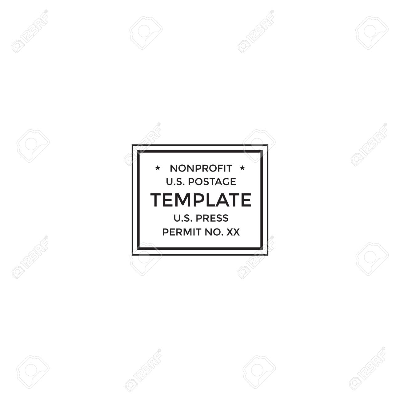 Postal cancellation First Class mail Postage Paid mark Stock Vector - 94650962