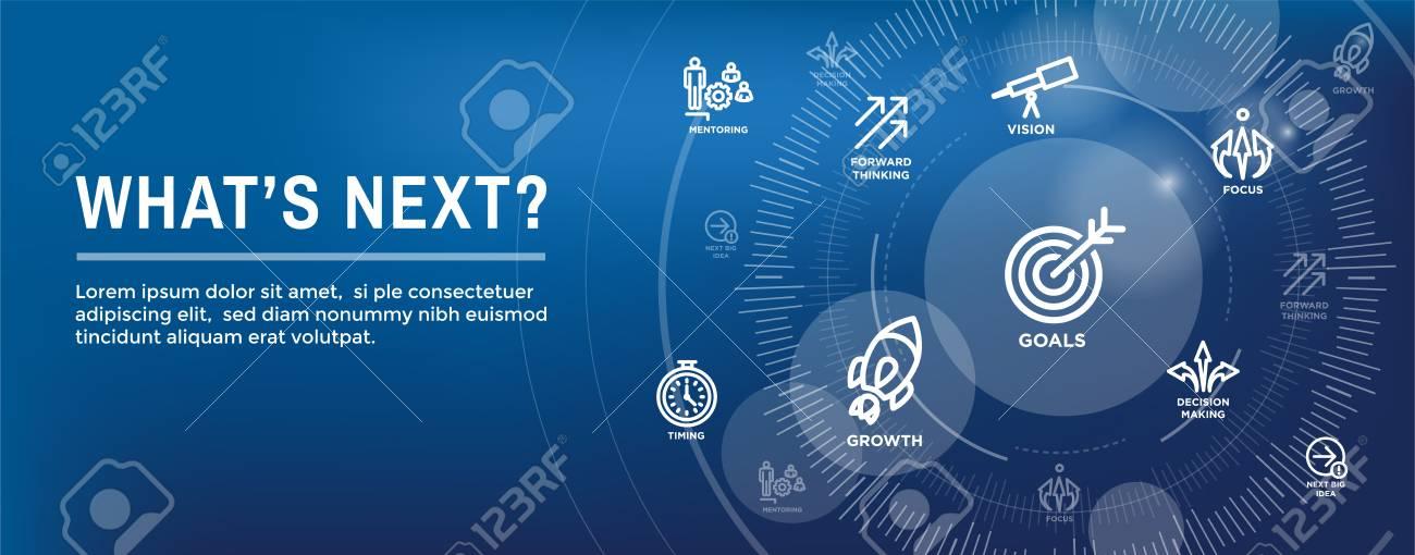 What's Next Header Web Banner showing - Next Big Idea - 107306714