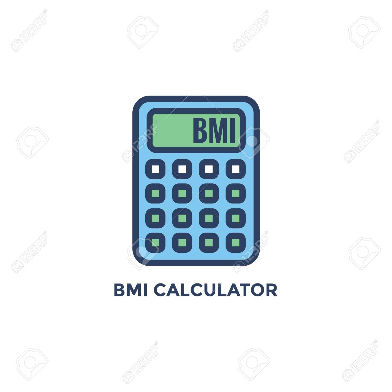 BMI - Body Mass Index Icon - BMI Calculator - green and blue