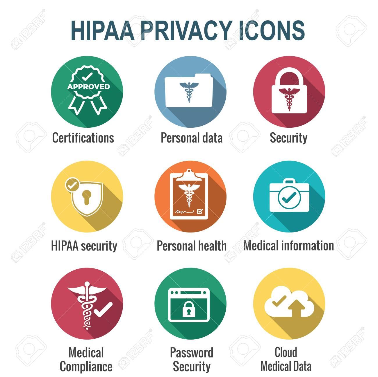 HIPAA Compliance icon set - hippa image involving medical privacy - 146706257