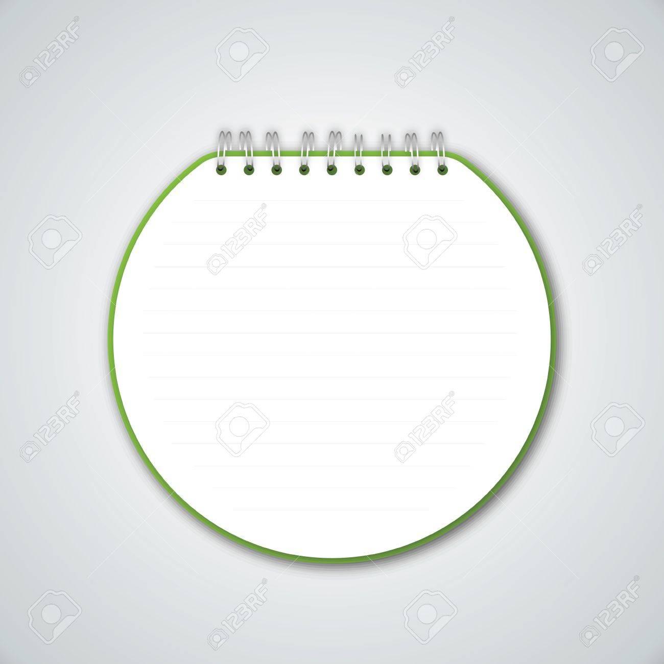 Green Circle Notebook Vector Stock Vector - 13551203