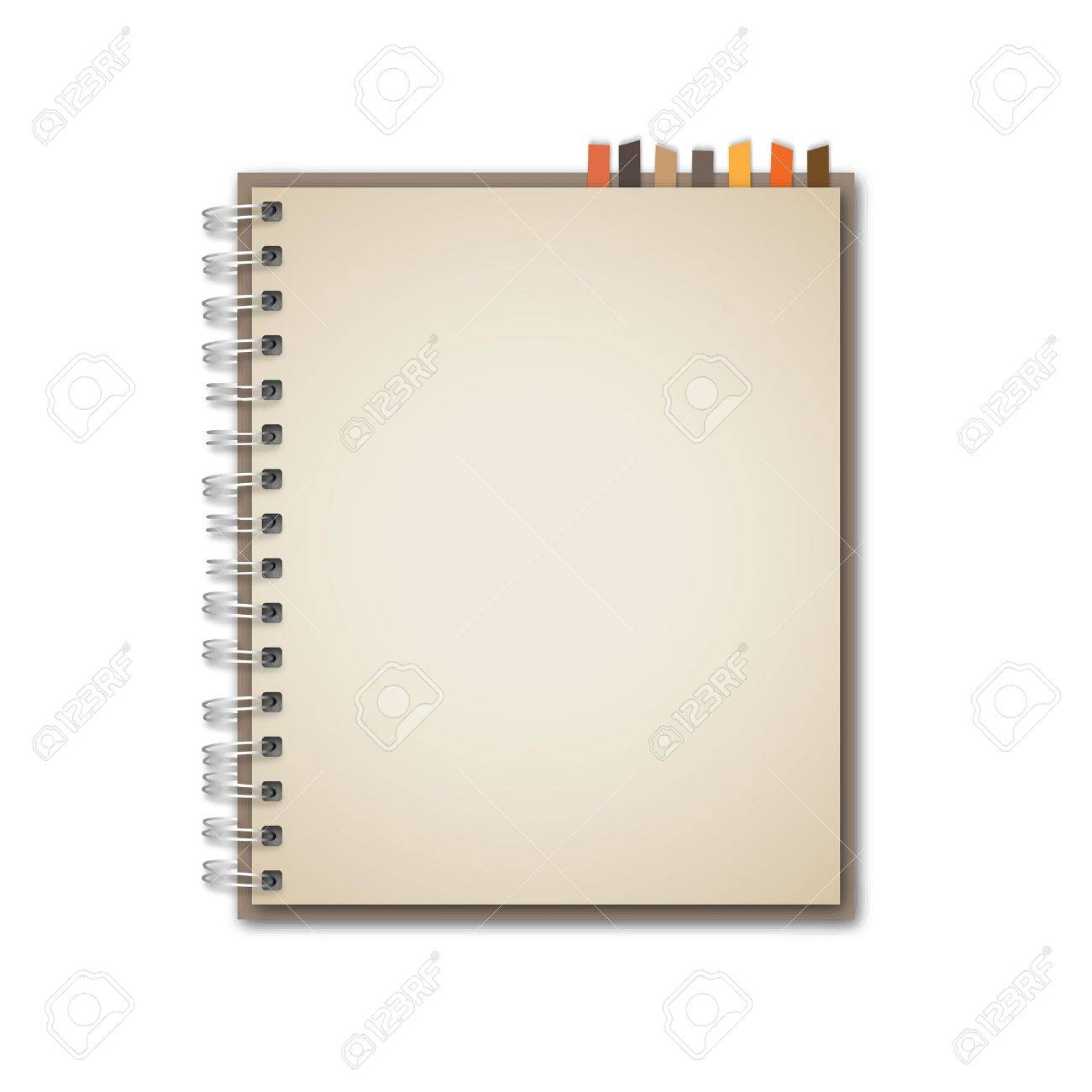 old brown notebook vector royalty free cliparts vectors and stock rh 123rf com notebook vectorworks notebook vector ai