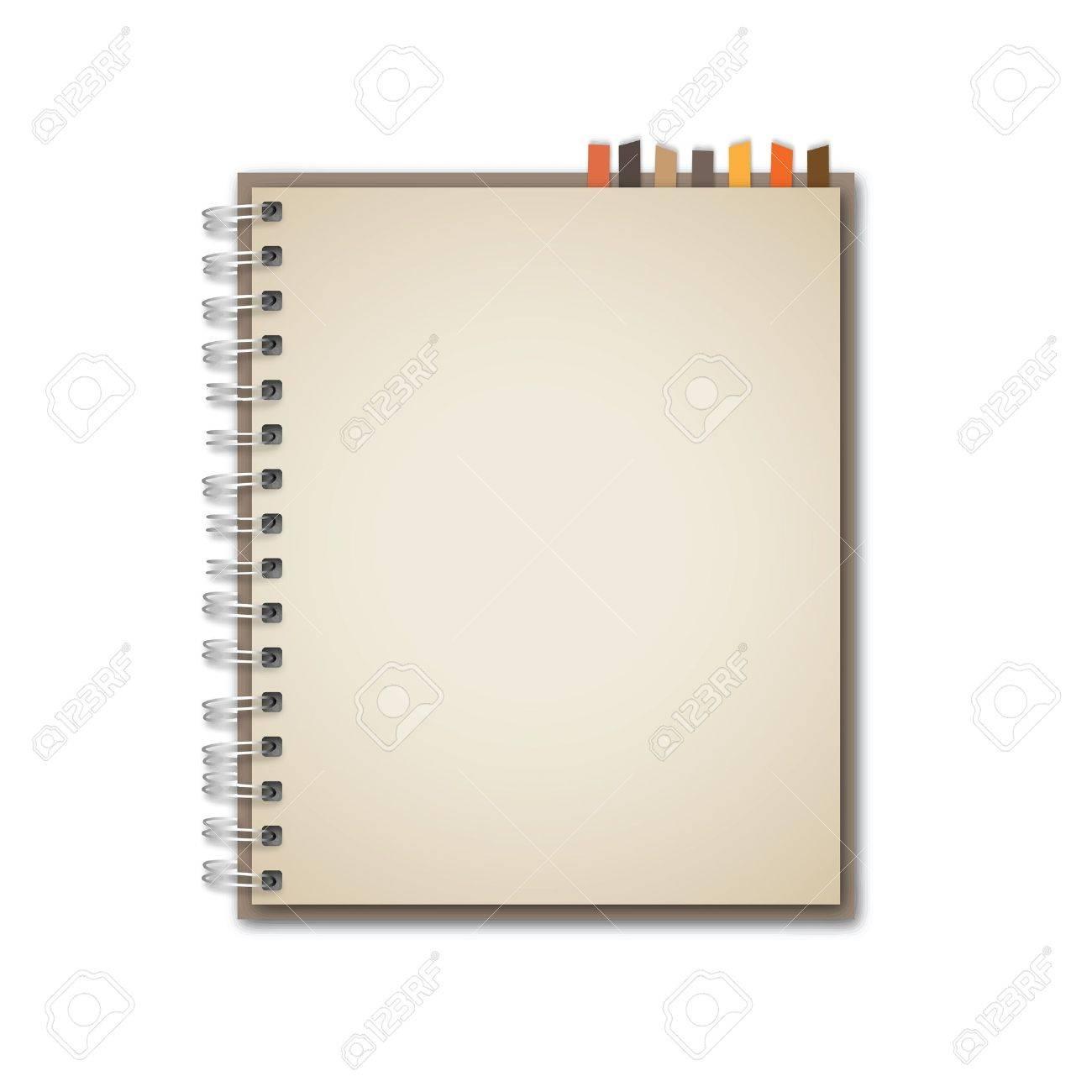 Old Brown Notebook Vector - 13551205