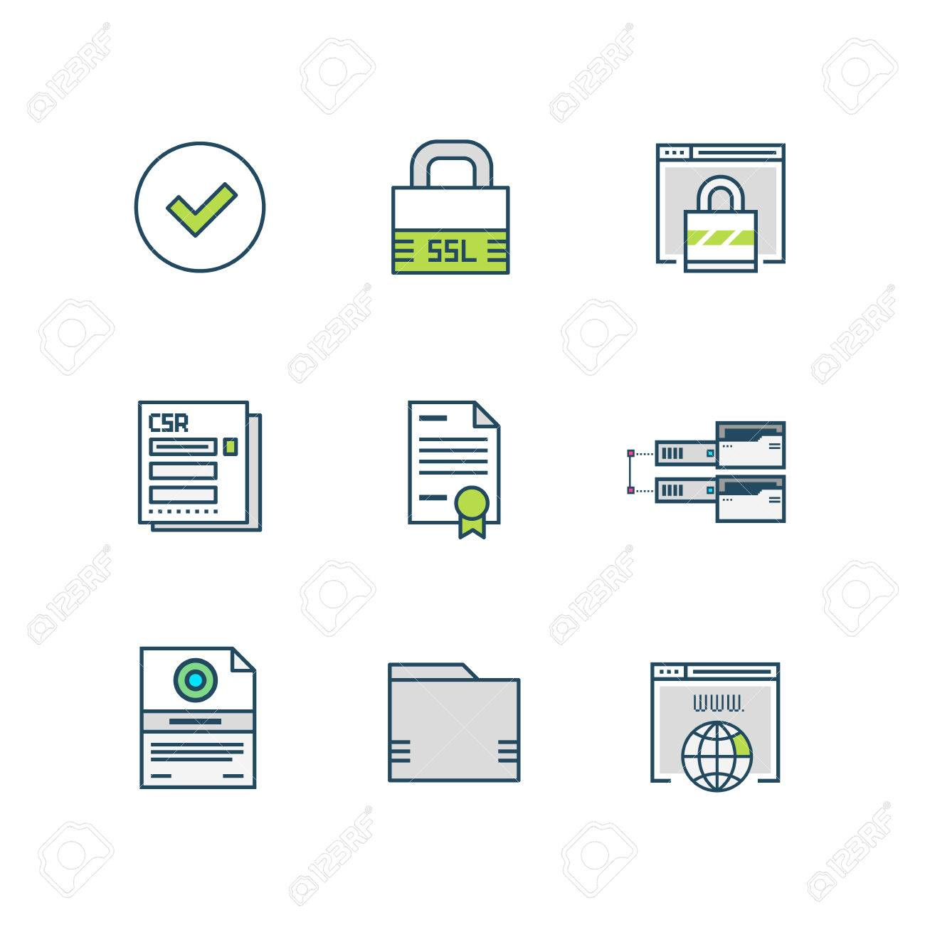 Ssl certificate icons royalty free cliparts vectors and stock ssl certificate icons stock vector 82595971 xflitez Gallery