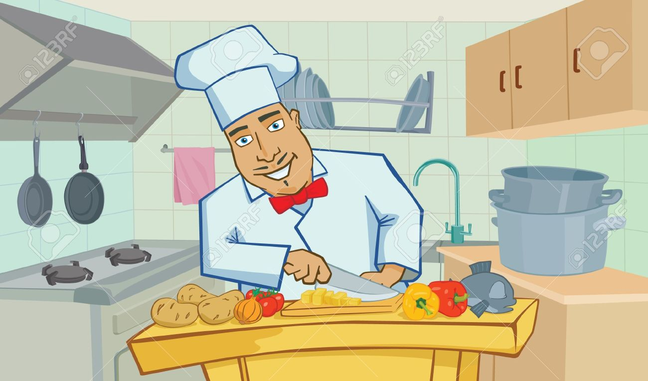 Restaurant Kitchen Illustration restaurant cartoon images & stock pictures. royalty free