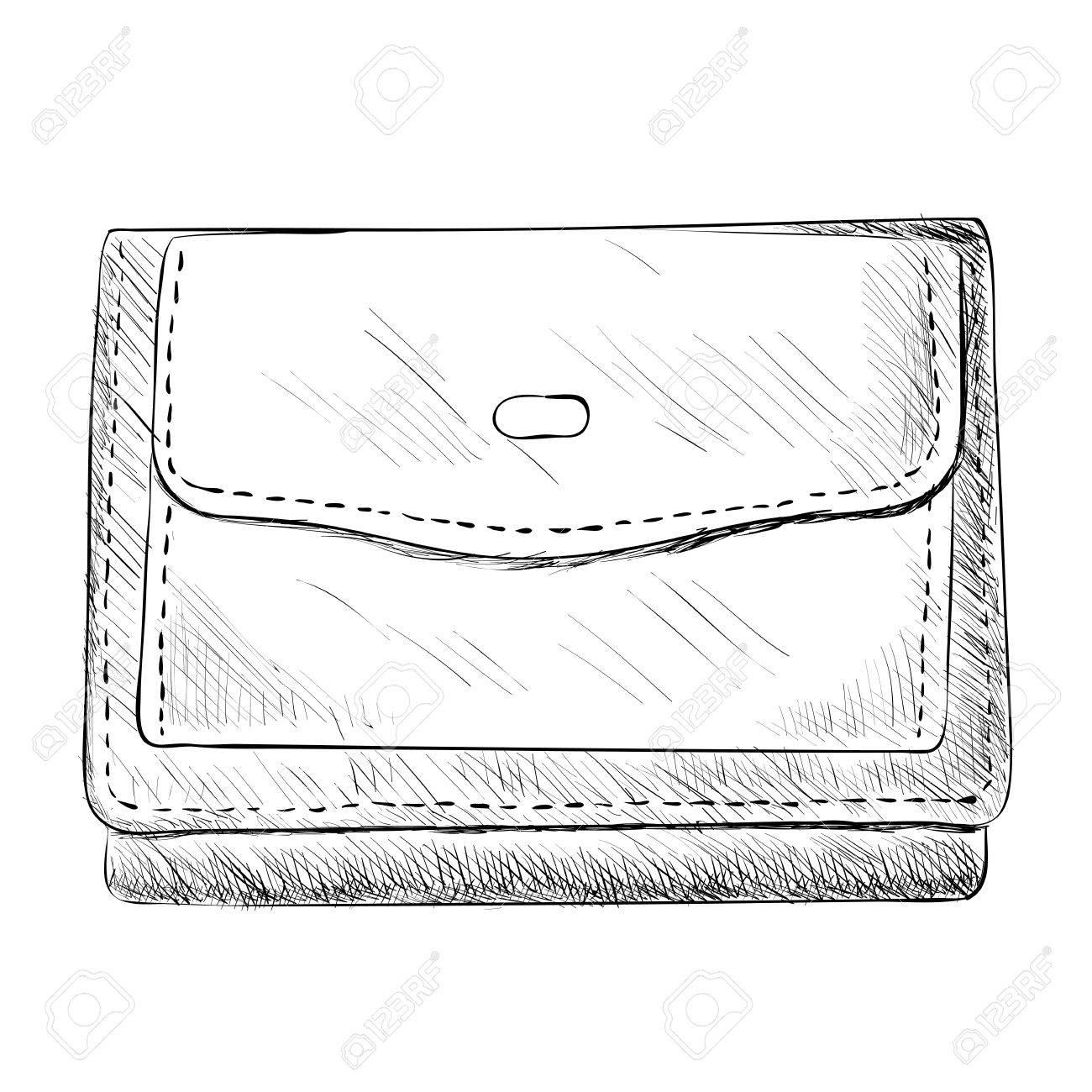 Vector sketch of wallet hand draw illustration stock vector 47656602