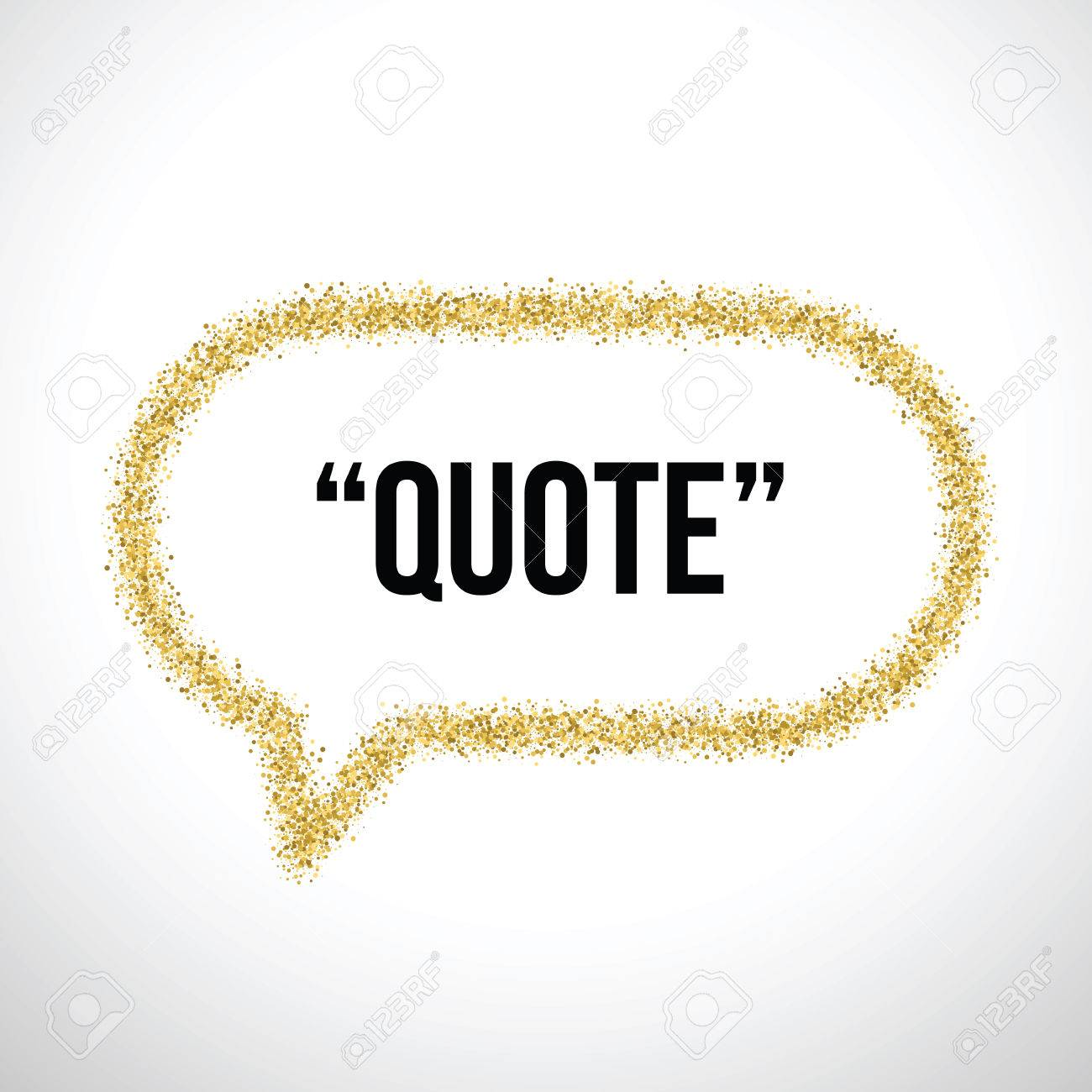 Goldener Sand Sprechblase Symbol Für Text Zu Zitieren. Vector Leere ...