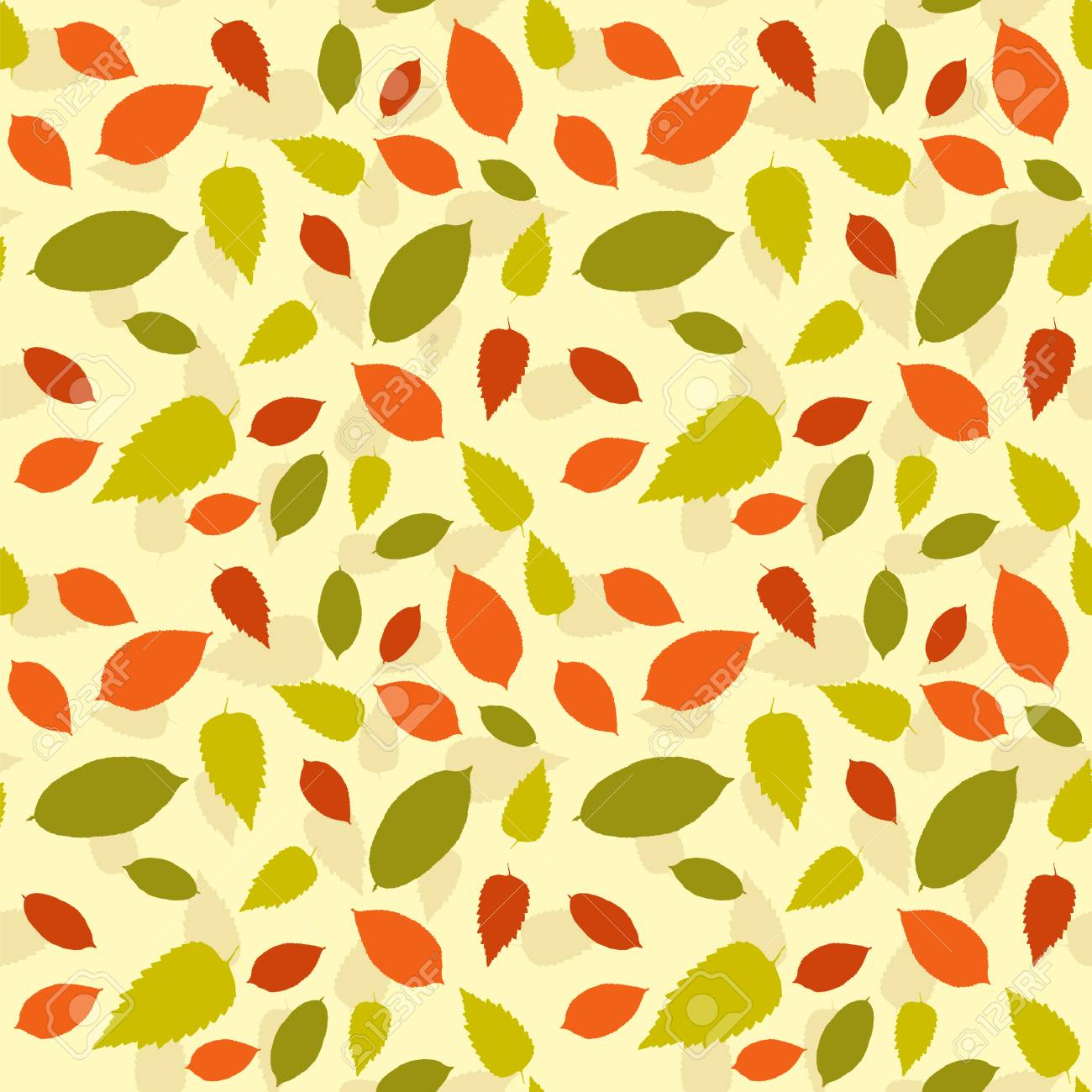 Seamless Colorful Floral Pattern Vector Abstract Background