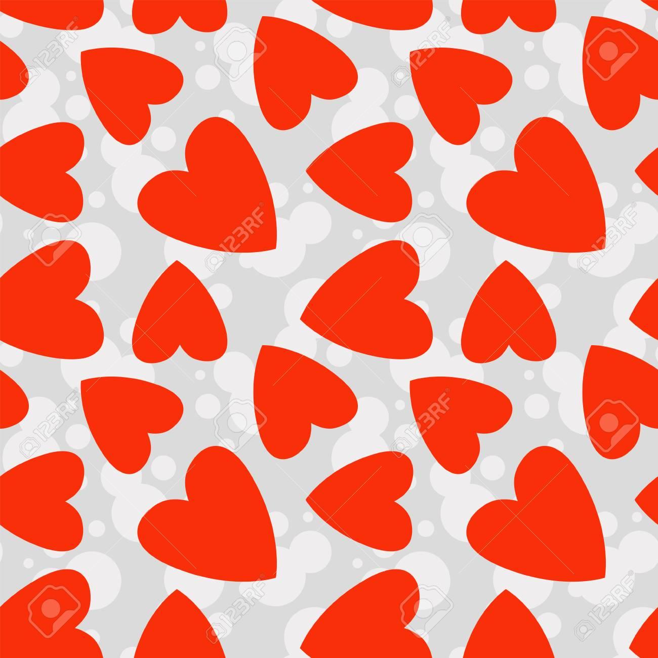 Seamless Cute Hearts Shape Vector Pattern Wallpaper Background