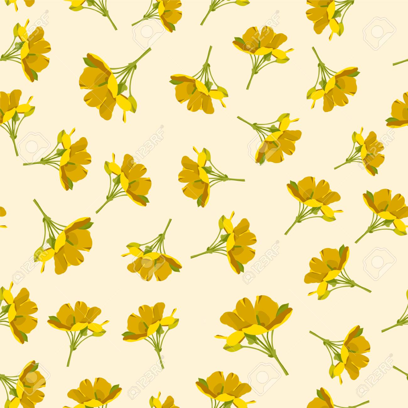 seamless cute floral vector pattern background yellow flower royalty free cliparts vectors and stock illustration image 104184861 seamless cute floral vector pattern background yellow flower