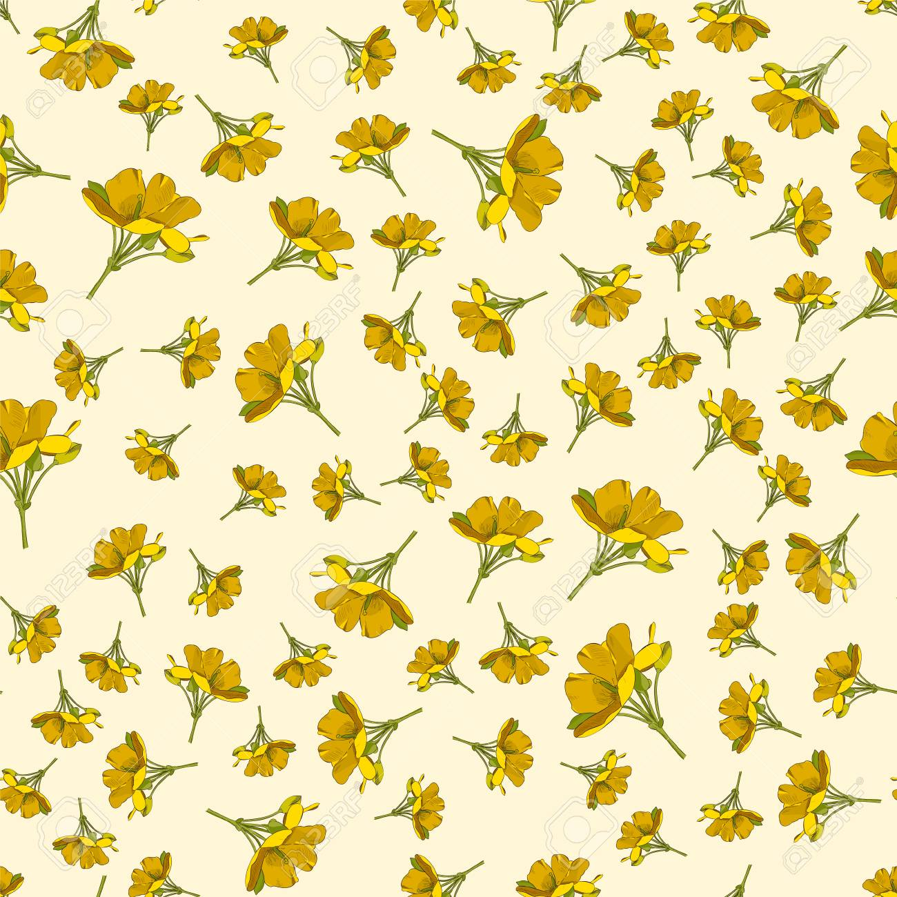 seamless cute floral pattern yellow flower wallpaper vector royalty free cliparts vectors and stock illustration image 104184862 seamless cute floral pattern yellow flower wallpaper vector
