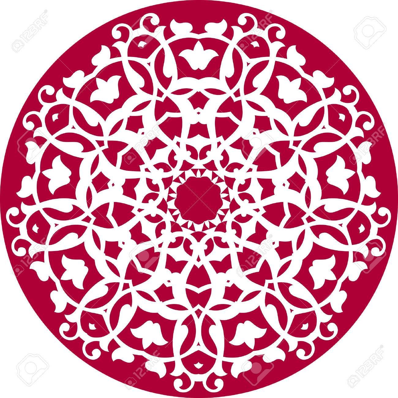 kaleidoscopic floral pattern Stock Vector - 3371118