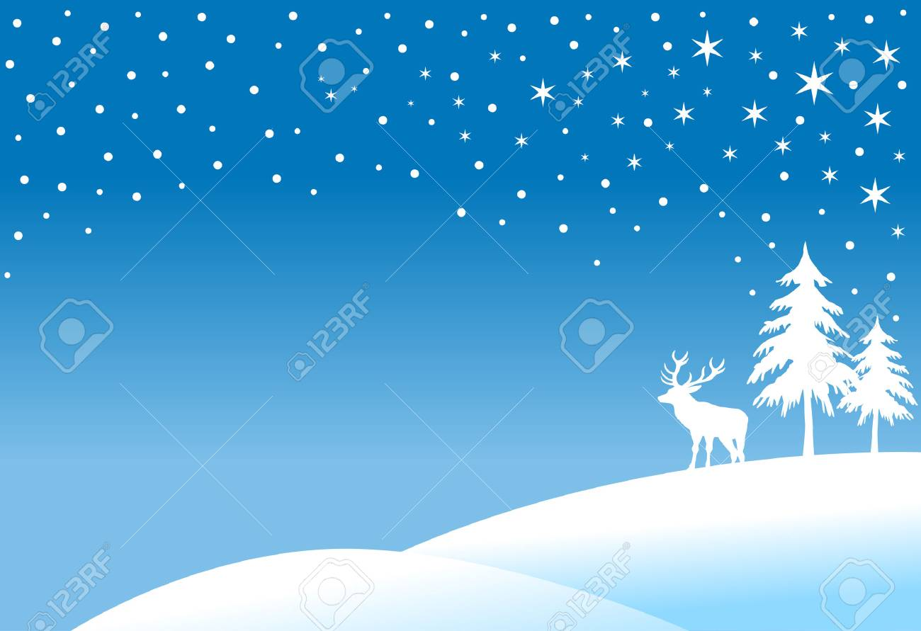 winter landscape, christmas background Stock Vector - 3474106