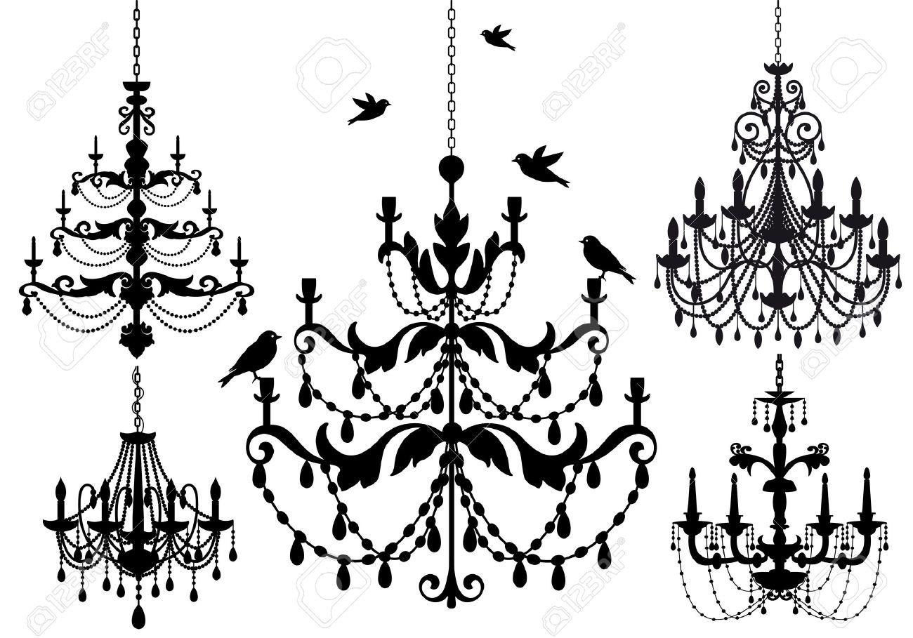 antique chandelier set - 15067919