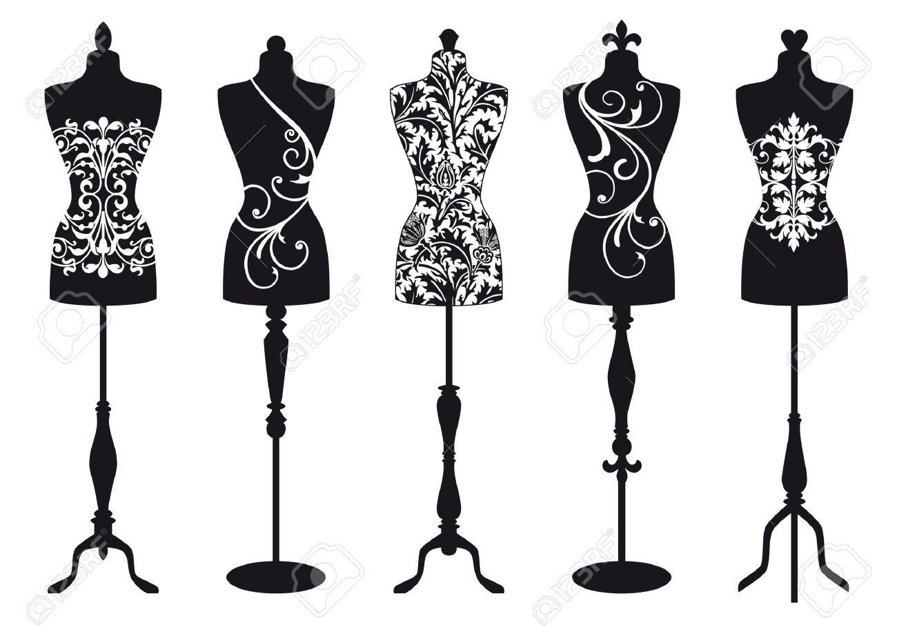 set of stylish fashion dress forms Stock Vector - 15067918