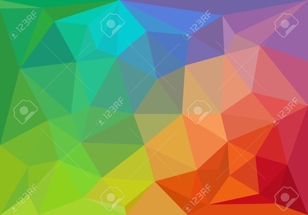 colorful geometric pattern triangle polygon design vector