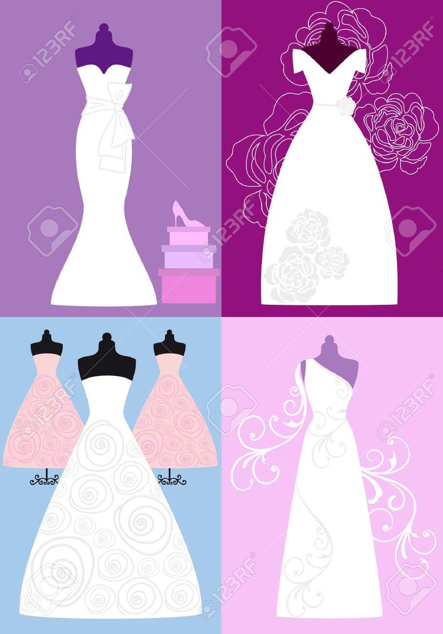 Vestidos De Novia, Vestidos De Novia, Ilustración De Moda ...