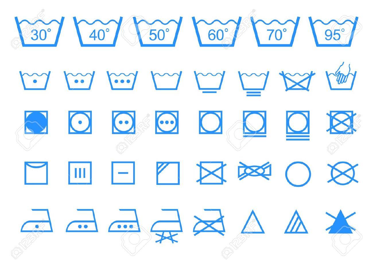 Gut bekannt Symboles De Lavage De Blanchisserie De L'entretien Des Textiles  AI61