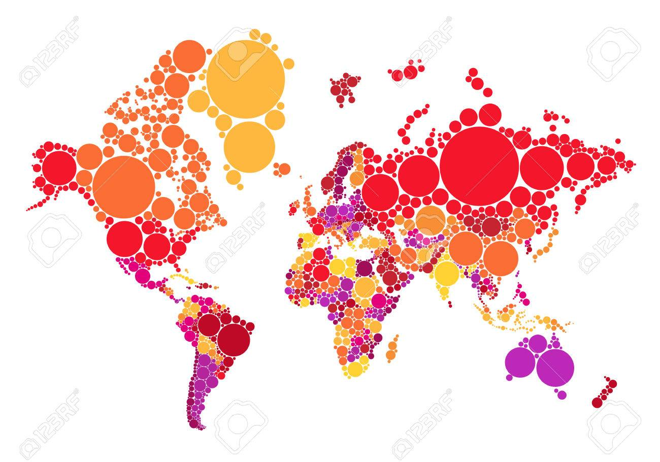 Political abstract dot world map with countries vector illustration political abstract dot world map with countries vector illustration map source nasa public domain stock gumiabroncs Image collections