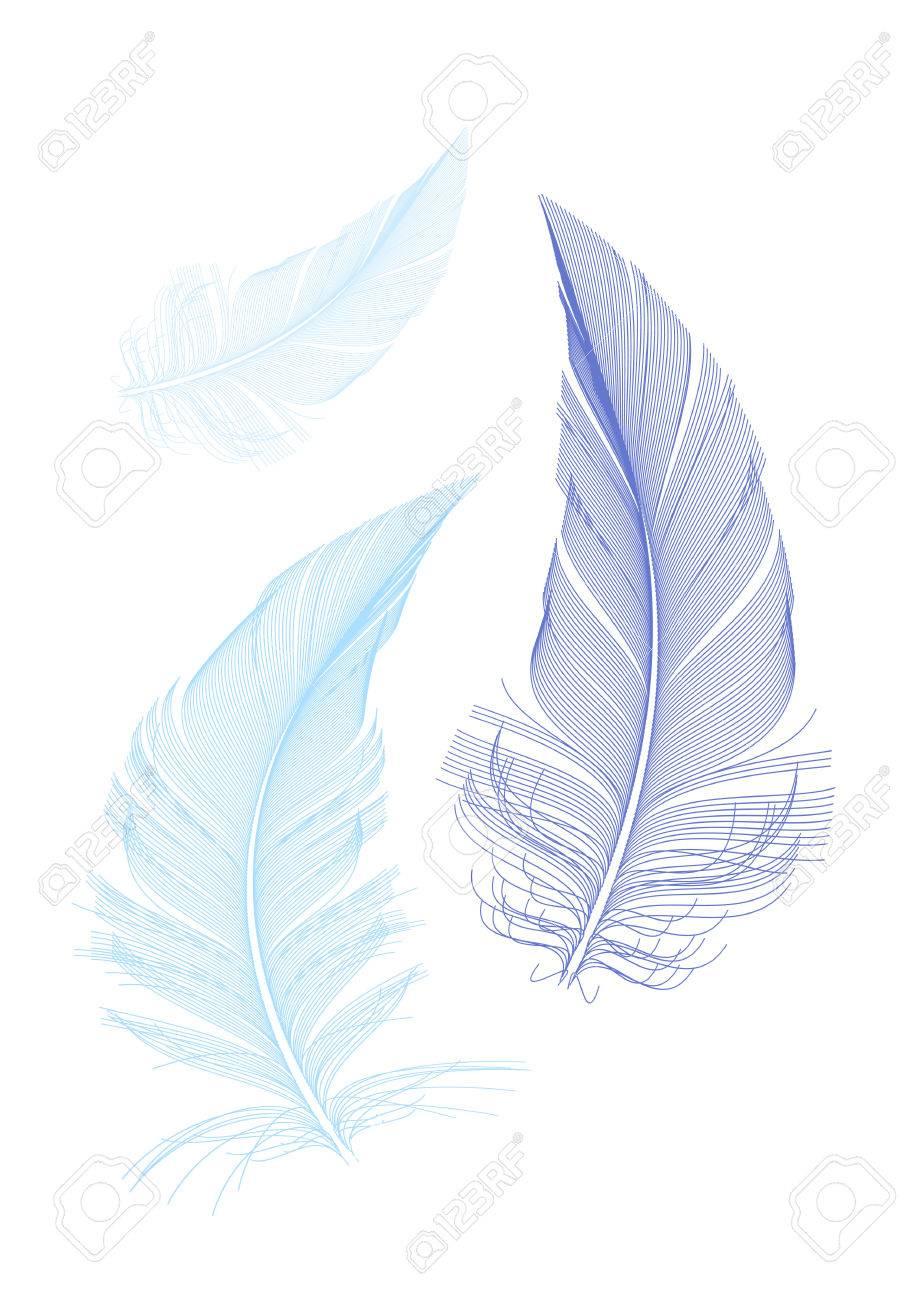青い鳥の羽をベクトル イラストのイラスト素材ベクタ Image 31861719