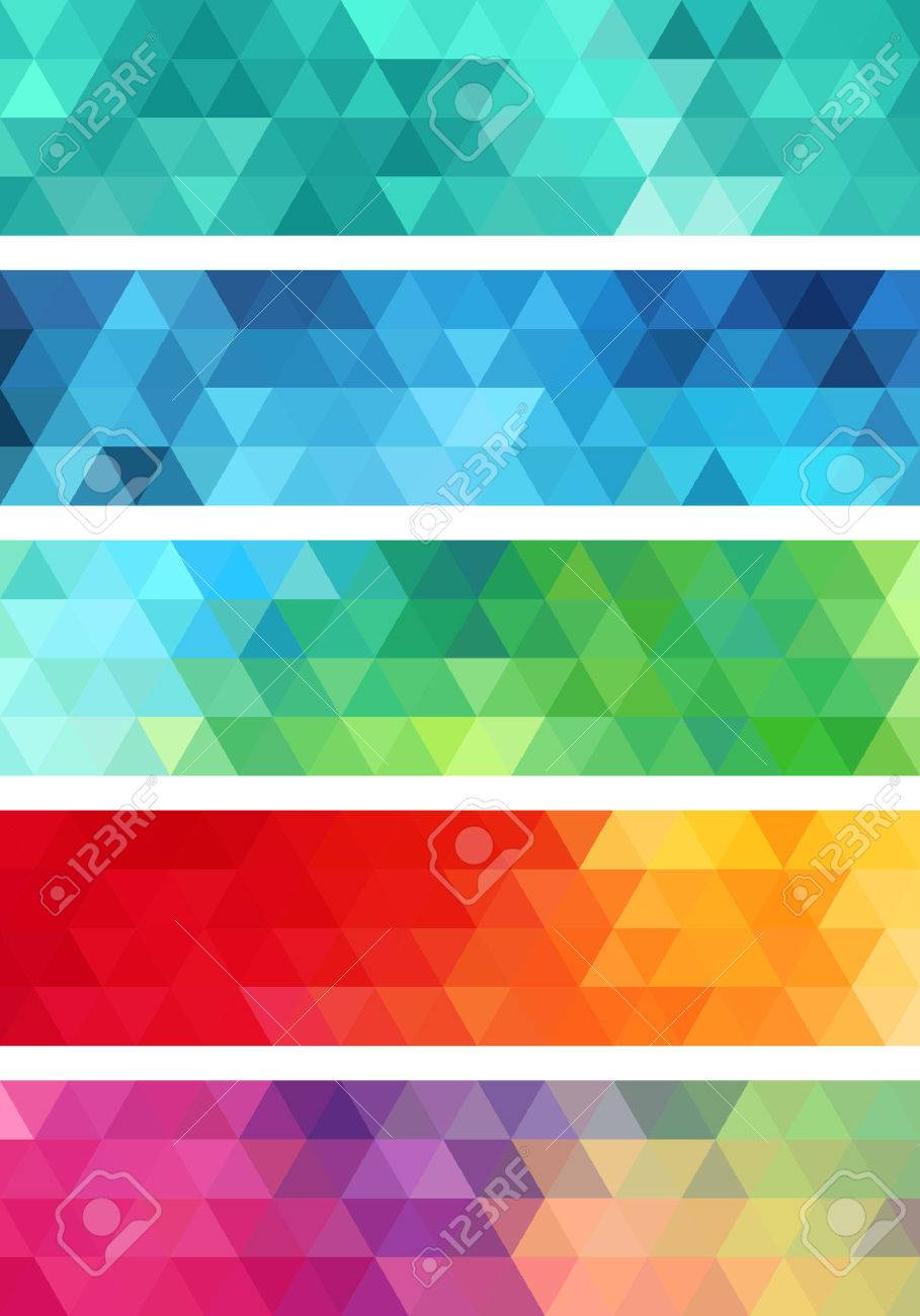 abstract geometric banner, set of vector design elements - 38237456